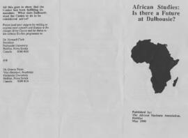African studies: is there a future at Dalhousie?