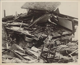 Photograph of the damage to a home in Richmond after the Halifax explosion