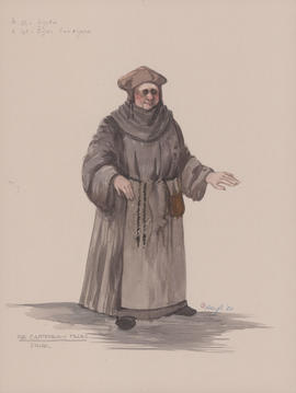 Costume design for the Friar