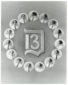 Composite photograph of the women graduates of 1913