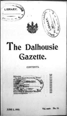 The Dalhousie Gazette, Volume 35, Issue 10