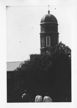 Photograph of the Arts & Administration Building clock tower