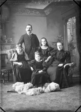 Photograph of J. Carmichael and family
