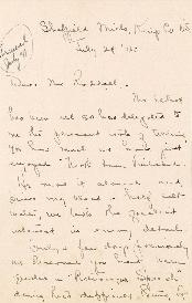 Correspondence between Thomas Head Raddall and Mrs. R.B. Elliot
