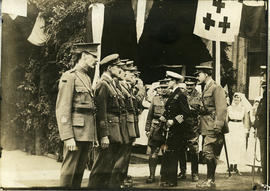 HRH Prince Edward VIII inspects the troops at the Stationary Hospital
