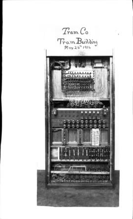 Photograph of switch board from the Tram Co. in the Tram Building