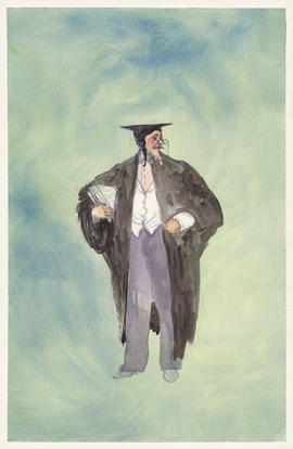 Costume design for a scholar