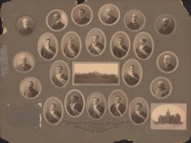Photographic collage of the Dalhousie University graduating class in medicine of 1908