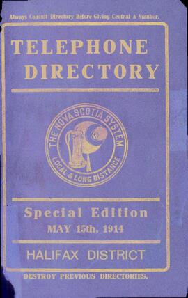 MT&T telephone directory - 1914 (special edition, Halifax District)