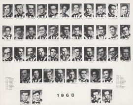 Composite photograph of the Faculty of Medicine - Class of 1968