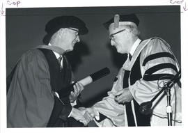 Photograph of Dr. Malcolm Birt Dockerty Receving Honorary Doctor of Laws Degree