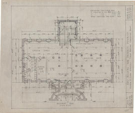 Technical drawing of the basement plan of an arts building for Dalhousie University
