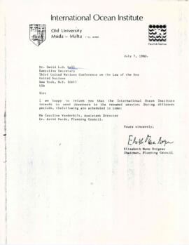 Correspondence with David L.D. Hall