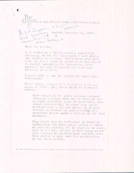 Correspondence with S.P. Jagota, Indian mission to the United Nations