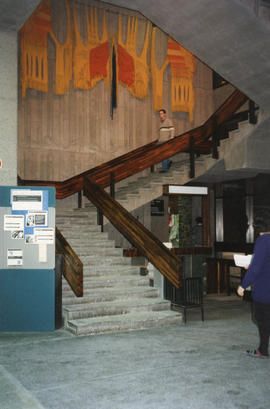 Photograph of the main stair case in the Killam Memorial Library, Dalhousie University