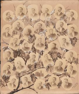 Photographic collage of the Dalhousie University class of 1895