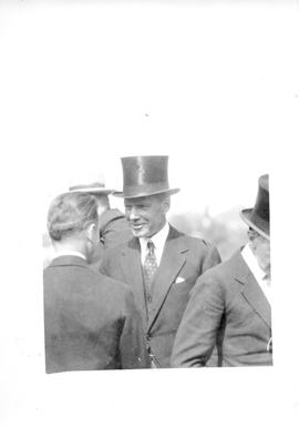 Photograph of Hon. William Phillips talking to a guest