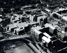 Photograph of an aerial view of the Studley campus Dalhousie University