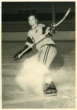 Photograph of Pierre Gagne of the Dalhousie University hockey team