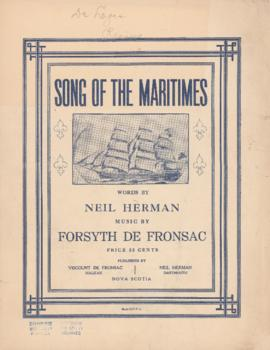 Song of the Maritimes : [sheet music]