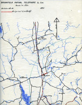 Maps of Brookfield Mutual Telephone Company's telephone line