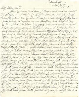 Letter from Weldon Morash to his sister Gertrude dated 30 September 1918