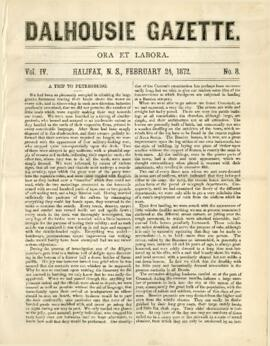 Dalhousie Gazette, Volume 4, Issue 8
