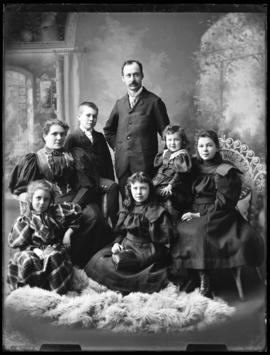 Photograph of John McQueen and his family