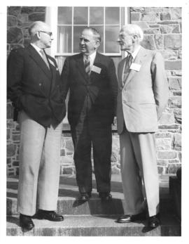 Photograph of G. A. Currie, Sir Edward Appleton, and Lord Adrian