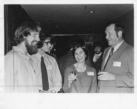 Photograph of Andy Watt, Sandra Oxner, Bruce Irwin, and an unidentified person