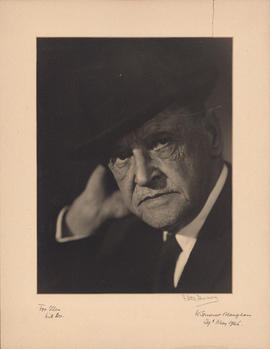 William Somerset Maugham : [autographed photograph]