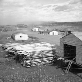 Photograph of a saw mill in Fort Chimo, Quebec