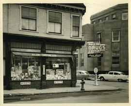Balcom and Chittick Drugs - Exterior on the corner of Queen and Spring Garden