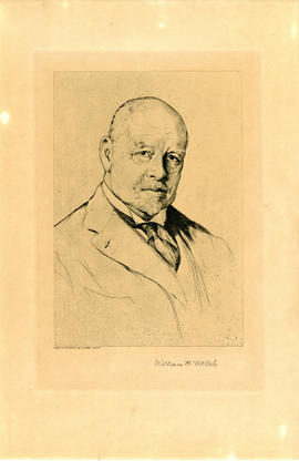 Copy of etching of William H. Welch [1850-1934]