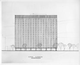 Drawing of the north elevation of the Sir Charles Tupper Medical Building