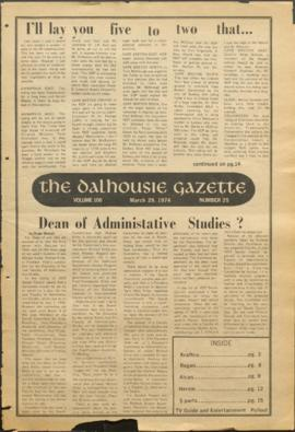 The Dalhousie Gazette, Volume 106, Issue 25