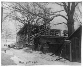 Photograph of construction on South Park street in Halifax Nova Scotia
