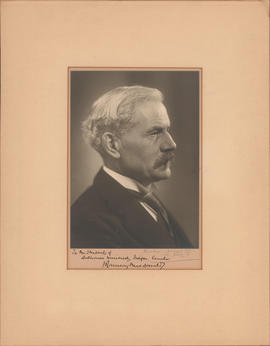 Photograph of Ramsay MacDonald, British Prime Minister