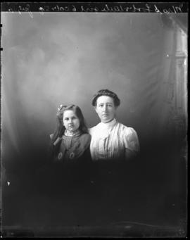 Photograph of Mrs. S. Foot & daughter