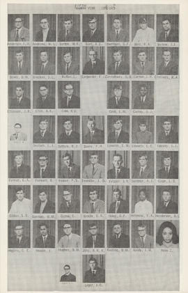Composite photograph of the Faculty of Medicine - Fifth Year Class 1972-1973 (Anderson - Leger)