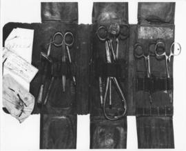 Photograph of medical kit with suture needles