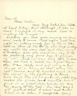 Letter from Clara Bigelow to mother