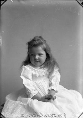 Photograph of J. M. Donaldson's daughter