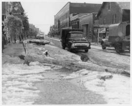 Photograph of Water street after a storm in Summerside Prince Edward Island