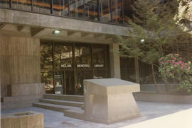 Photograph of the entrance to the Killam Memorial Library, Dalhousie University