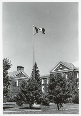 Photograph of the Flagpole at Studley Campus
