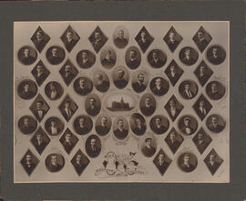 Composite photograph of Arts and Science Faculty and Class of 1905