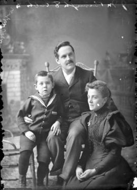 Photograph of Mr. Brough and family