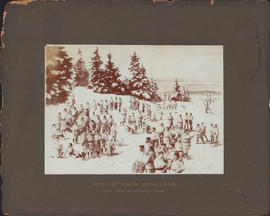 Composite photograph of the Red Cap Snow Shoe Club