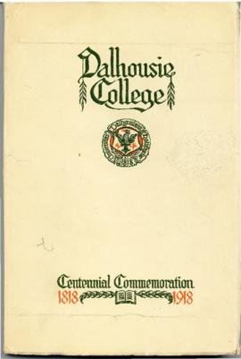 One hundred years of Dalhousie, 1818-1918